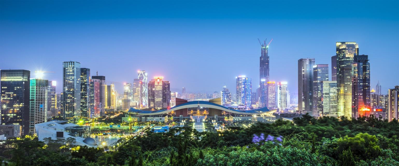 Shenzhen, China Civic Center Panorama